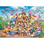 Puzzle  Ravensburger-19383 Disney Karneval Multicha