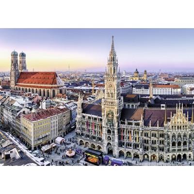 Puzzle Ravensburger-19426 Blick auf München
