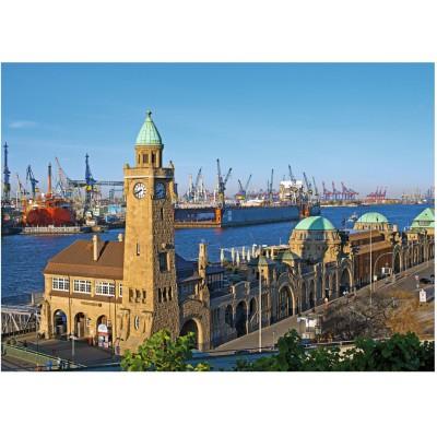 Puzzle Ravensburger-19457 Hamburg