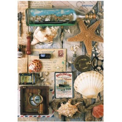 Puzzle Ravensburger-19479 Maritime Souvenirs
