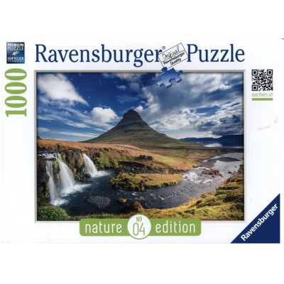 Puzzle Ravensburger-19539 Nature Edition N°4: Wasserfall von Kirkjufell, Island