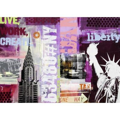 Puzzle  Ravensburger-19613 Collage New York City