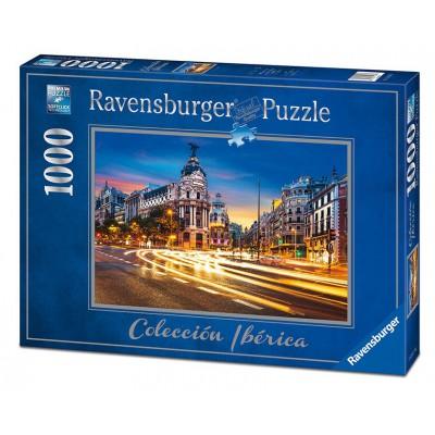 Puzzle  Ravensburger-19618 Gran Vía, Madrid