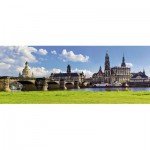 Puzzle  Ravensburger-19619 Dresden Canaletto Blick