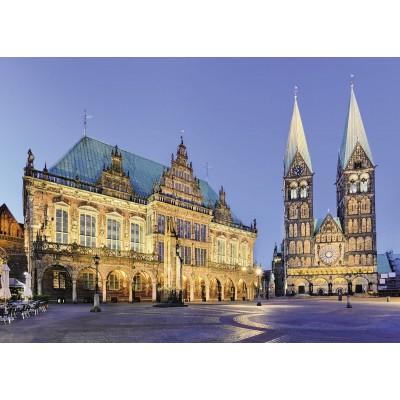 Puzzle  Ravensburger-19622 Bremen: Blick aufs Rathaus