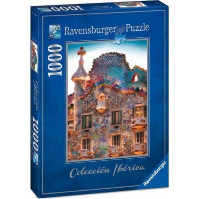 Puzzle  Ravensburger-19631 Casa Batlló, Barcelona