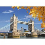 Puzzle  Ravensburger-19637 Blick auf die Tower Bridge