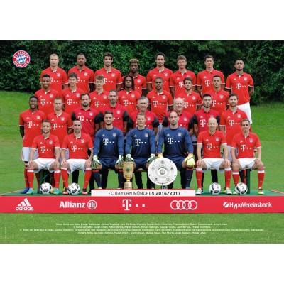 Puzzle  Ravensburger-19648 FC Bayern München Saison 16/17