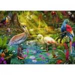 Puzzle  Ravensburger-19673 Vogelparadies
