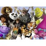 Puzzle  Ravensburger-19693 DreamWorks Familie