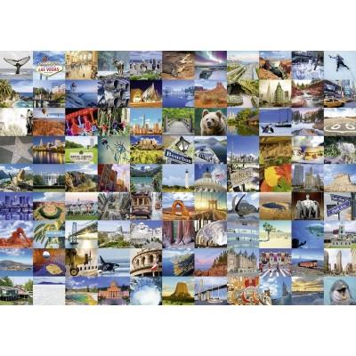 Puzzle  Ravensburger-19709 99 Beautiful Places USA/Canada