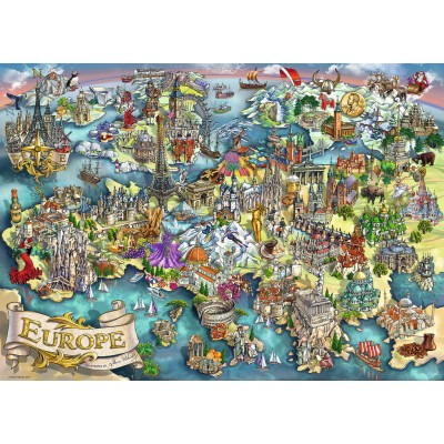 Puzzle Ravensburger-19717 Europe
