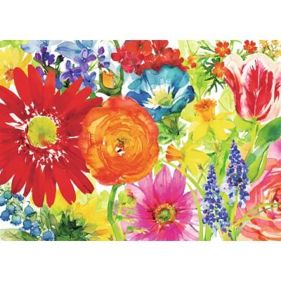 Puzzle Ravensburger-19729 Reichliche Blüten