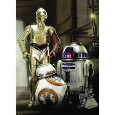 Puzzle  Ravensburger-19779 Star Wars - C-3PO, R2-D2 & BB-8