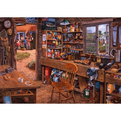 Puzzle Ravensburger-19790 Opas Schuppen