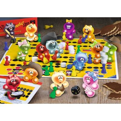 Puzzle  Ravensburger-19795 Spieleabend bei den Gelini