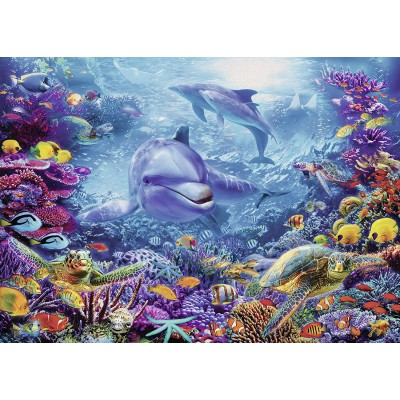 Puzzle  Ravensburger-19833 Prächtige Unterwasserwelt