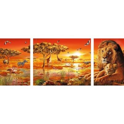 Puzzle Ravensburger-19836 Afrikanische Impressionen