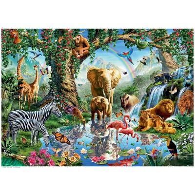 Puzzle  Ravensburger-19837 Abentuer im Dschungel