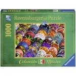 Puzzle  Ravensburger-19841 Bunte Teller