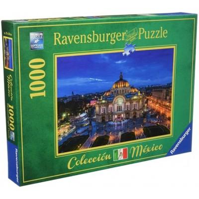 Puzzle Ravensburger-19842 Palast der Schönen Künste, Mexiko