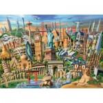 Puzzle  Ravensburger-19890 Sehenswürdigkeiten weltweit