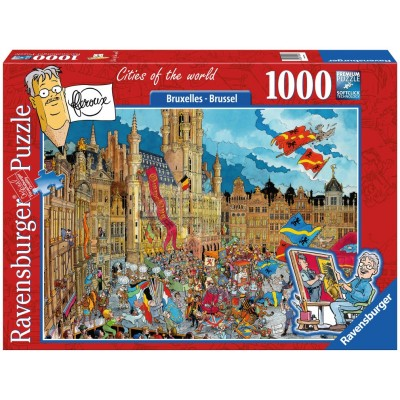Puzzle  Ravensburger-19895 Brussel - Bruxelles