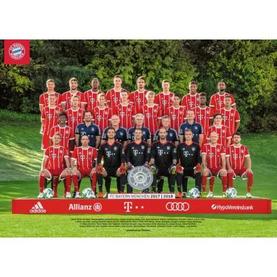 Puzzle  Ravensburger-19896 FC Bayern '17/18 J.H.