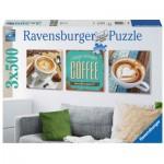 Ravensburger-19919 3 Puzzles - Dreifacher Kaffeegenuss