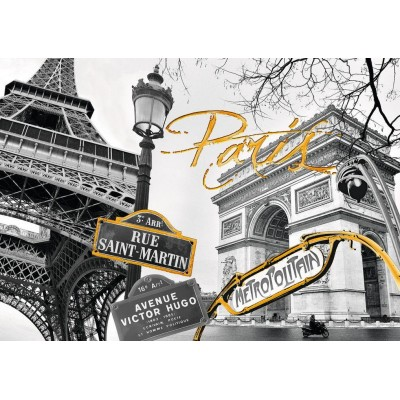 Puzzle  Ravensburger-19935 Do it Yourself - Goldenes Paris