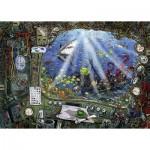 Ravensburger-19959 Escape Puzzle - Sous l'Ean (auf Französisch)