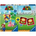 Ravensburger-20831 Multipack Super Mario - Memory und 3 Puzzles