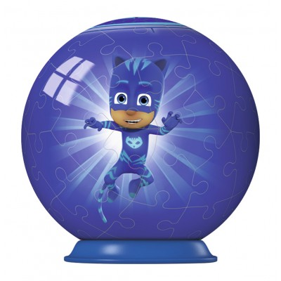 Ravensburger-79958-11924-01 3D Puzzle-Ball - PJ Masks