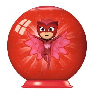 Ravensburger-79958-11924-03 3D Puzzle-Ball - PJ Masks