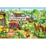Puzzle  Schmidt-Spiele-56003 Schöner Bauernhof
