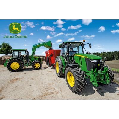 Puzzle  Schmidt-Spiele-56045 John Deere, Traktoren der 5M Serie