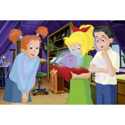 Puzzle  Schmidt-Spiele-56048 Bibi und Tina: Auf dem Dachboden