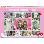 Puzzle  Schmidt-Spiele-56135 Katzenbabies