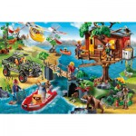 Puzzle  Schmidt-Spiele-56164 Playmobil, Baumhaus inklusive Figur