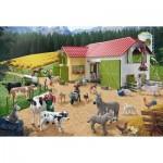Puzzle  Schmidt-Spiele-56189 Ein Tag auf dem Bauernhof