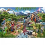 Puzzle  Schmidt-Spiele-56192 Im Reich der Dinosaurier