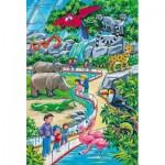 Schmidt-Spiele-56218 3 Puzzles - Ein Tag im Zoo