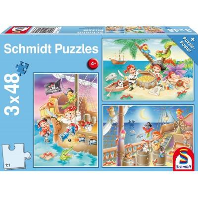 Schmidt-Spiele-56223 3 Puzzles - Piratenbande