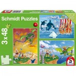Schmidt-Spiele-56224 3 Puzzles - Wikinger