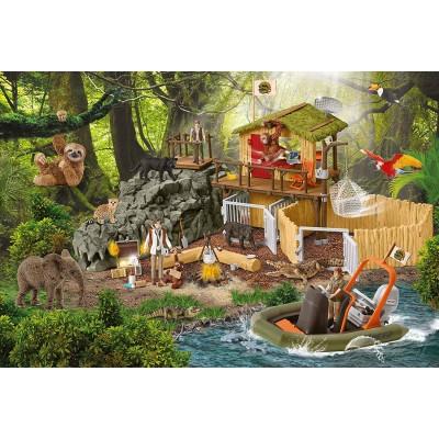 Puzzle  Schmidt-Spiele-56238 Forschungsstation Croco