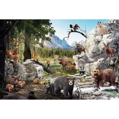Puzzle Schmidt-Spiele-56239 Die Tiere des Waldes
