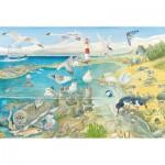 Puzzle  Schmidt-Spiele-56248 Tiere am Meer