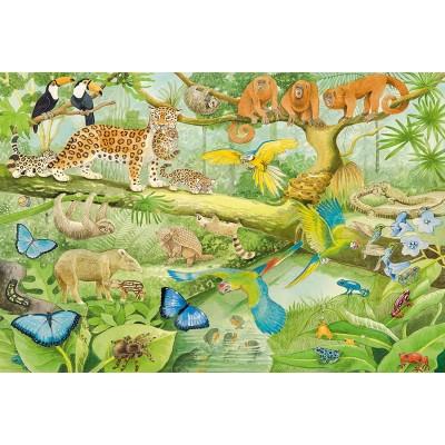 Puzzle  Schmidt-Spiele-56250 Tiere im Regenwald