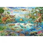 Puzzle  Schmidt-Spiele-56253 Entdecke die Dinosaurier