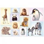 Puzzle  Schmidt-Spiele-56270 Tierkinder der Wildnis